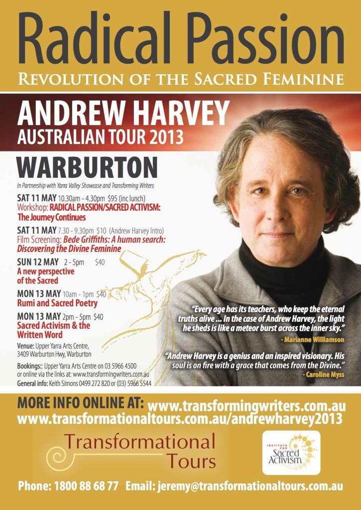 Andrew Harvey 2013 Tour Warburton